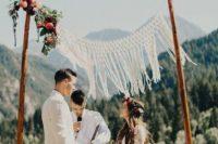 bamboo wedding decor