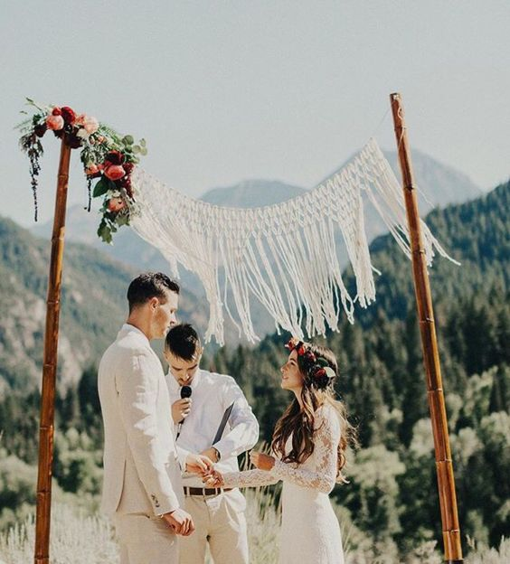 Bamboo Wedding Altar: 33 Boho Wedding Arches, Altars And Backdrops To Rock