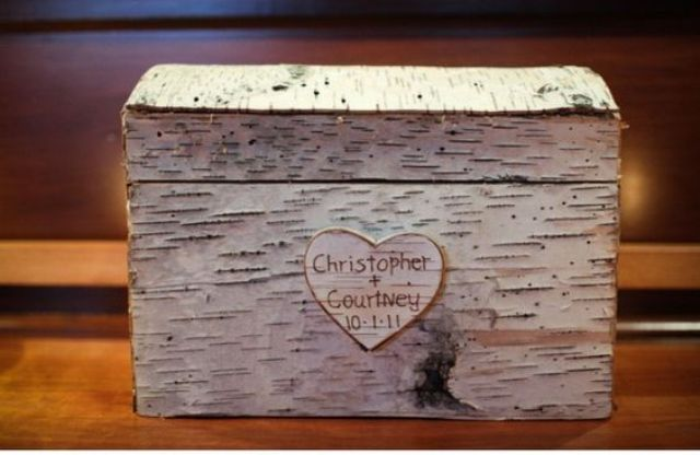 birch bark box with cutouts