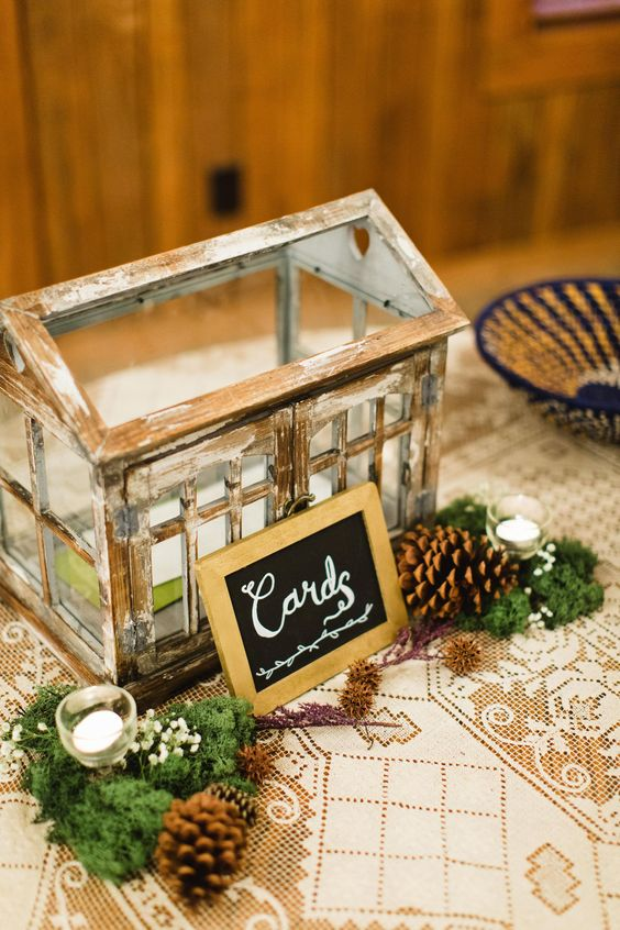 shabby chic glass house-style box for the cards