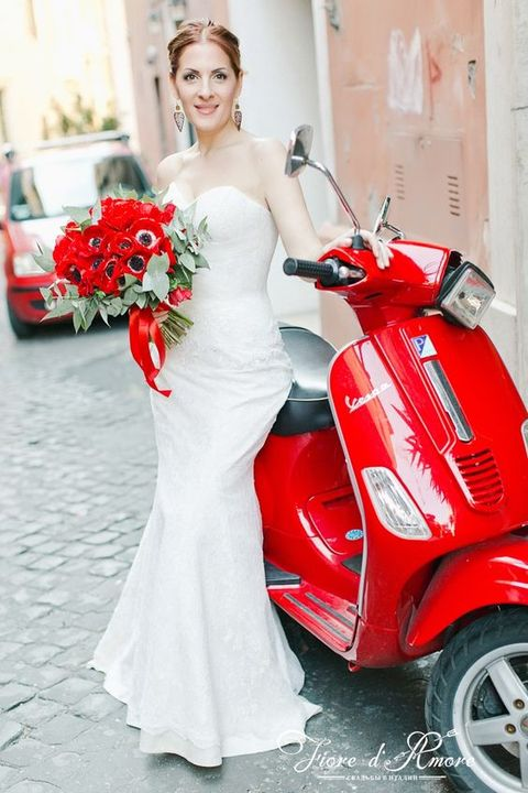 take a Vespa for cooler Rome-inspried pictures