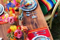colorful mexican tablescape
