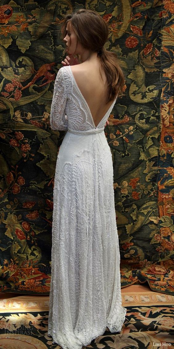 Wedding Dress With Long Sleeves 69 Cool heavily beaded lace wedding