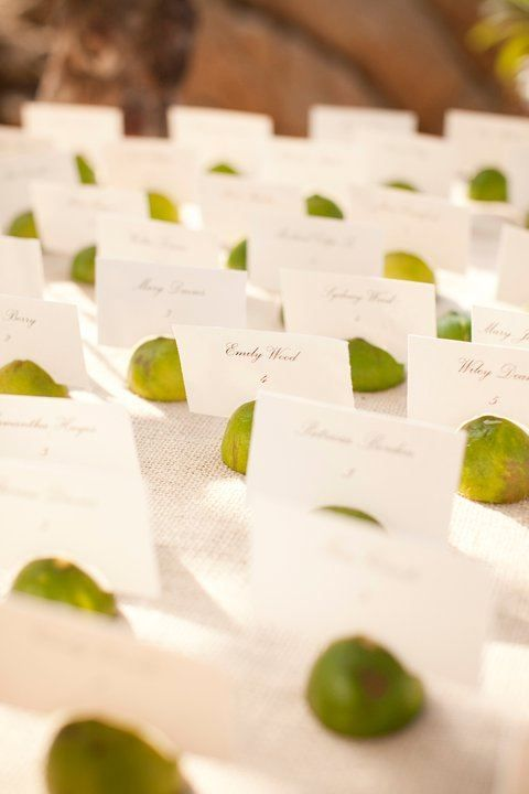 lime wedding card holders will remind that this is a tropical country