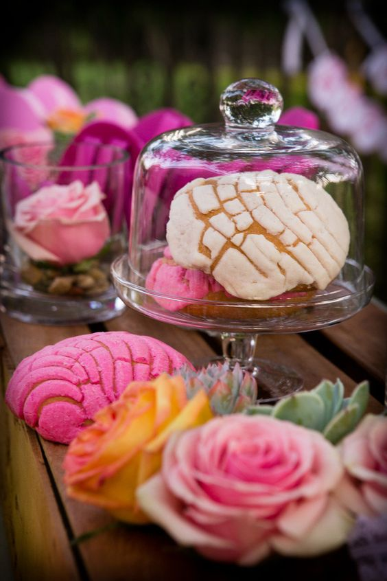 wedding pan dulce desserts for the dessert table is very Mexican-like