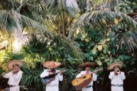 24 invite mariachi for your wedding, this is typically Mexican