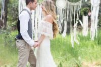 26 dream catchers and hangings as a wedding backdrop