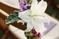 26 white and colorful tropical leaves for aisle decor