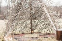 28 boho tent altar of willow and cherry blossom is ideal for spring