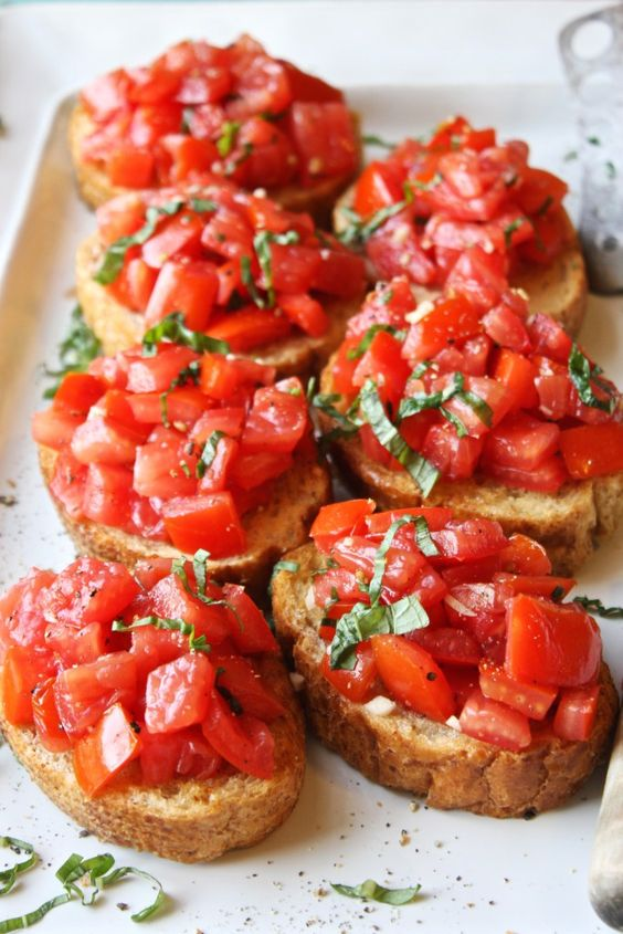 perfect bruschettas for appetizers