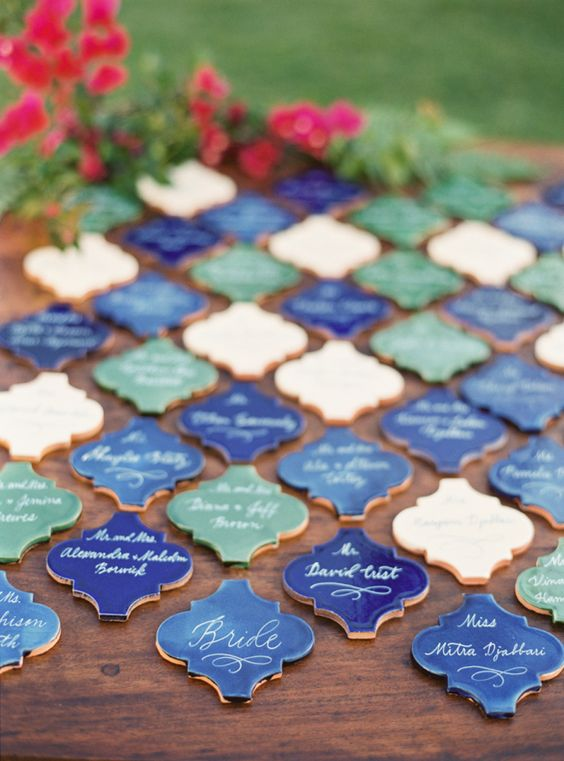 terracotta tile escort cards