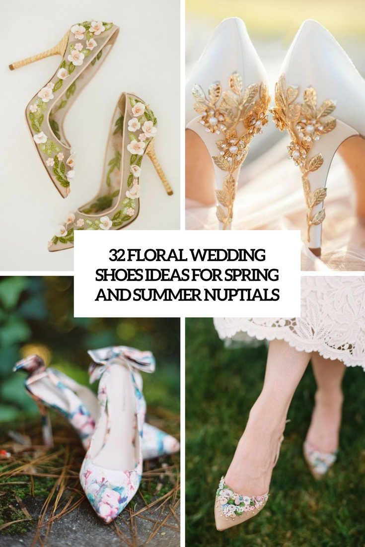 floral wedidng shoes ideas for spring and summer nuptials cover
