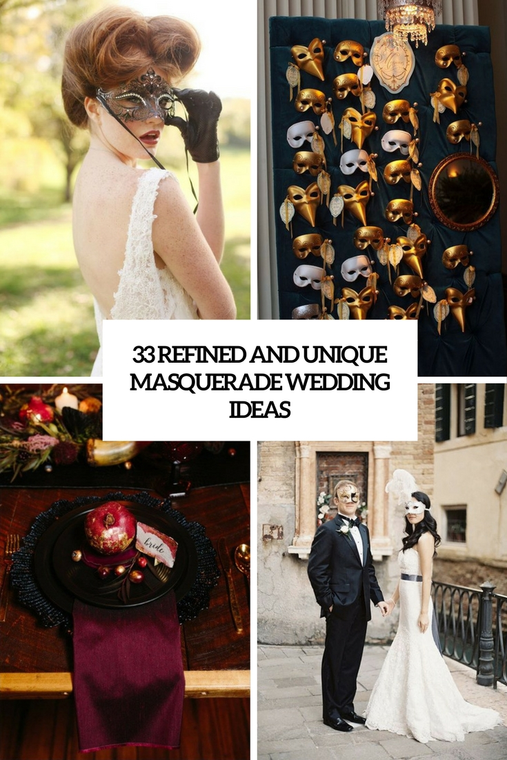 refined and unique masquerade wedding ideas cover