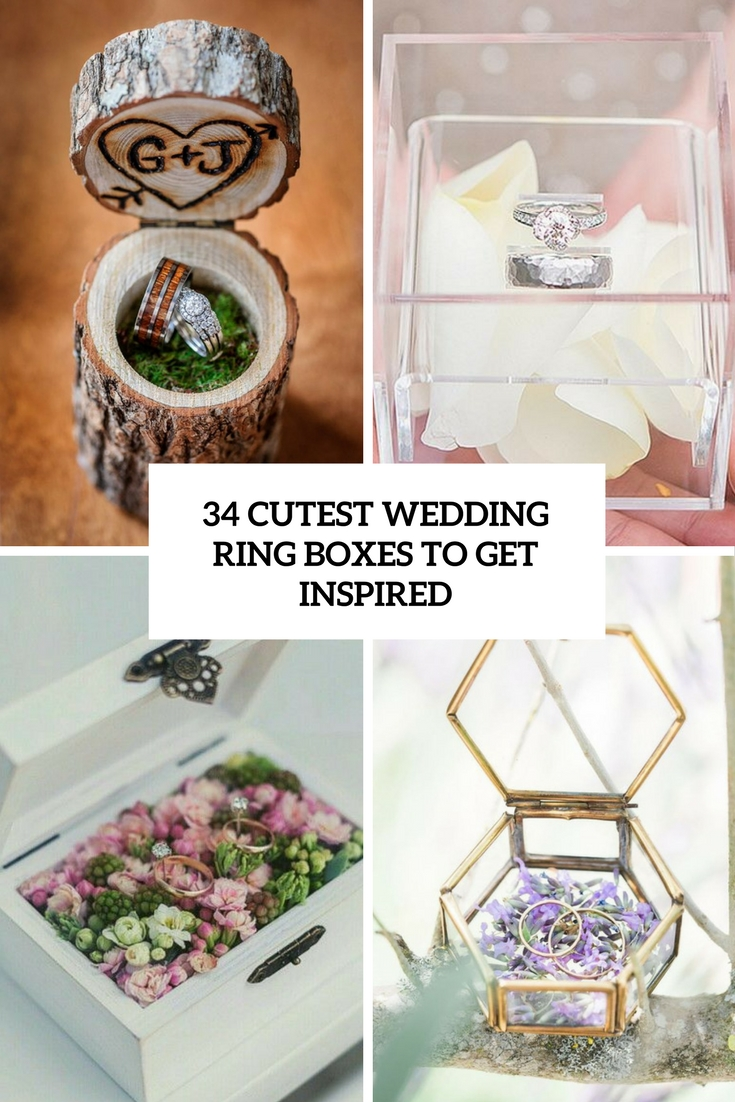 cutest wedding ring boxes to get inspired cover