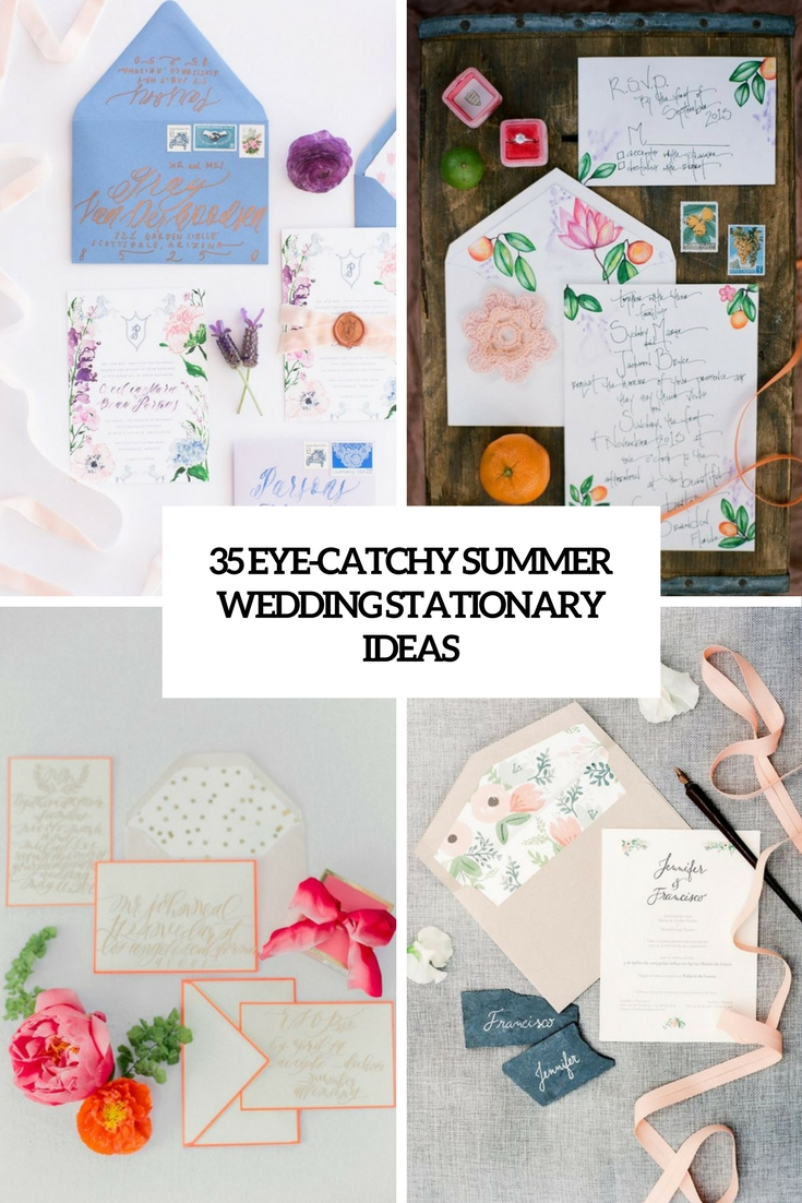 35 Eye-Catchy Summer Wedding Stationary Ideas