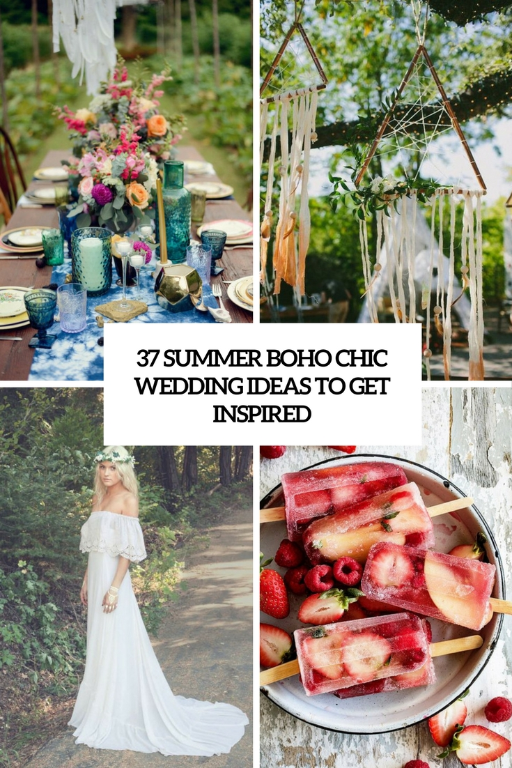 summer boho chic wedding ideas to get inspired cover