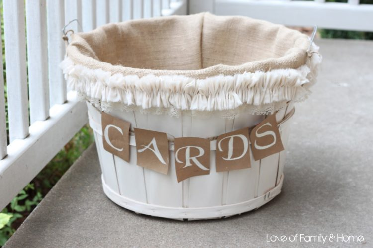 DIY apple basket wedding card box for rustic weddings (via https:)