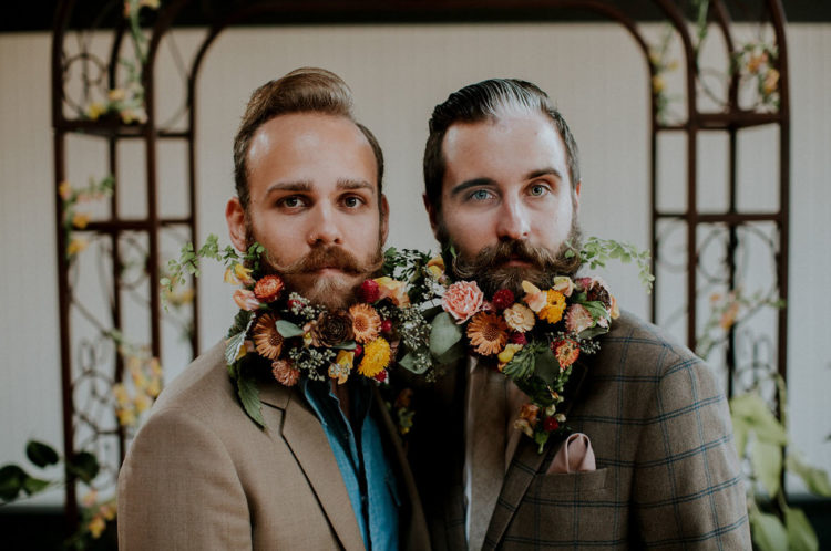 Wes Anderson-Inspired Wedding Shoot With Fancy Beard Gents