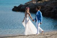 01 This boho wedding shoot took place not far from the downtown Athens and on the sea shore