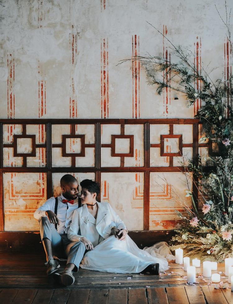 Romantic Rock'N'Roll Wedding Shoot In Portugal