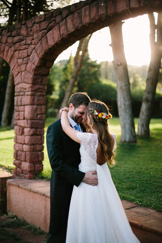This homey wedding took place at a 1770 Catalan house and had a cozy family ambience