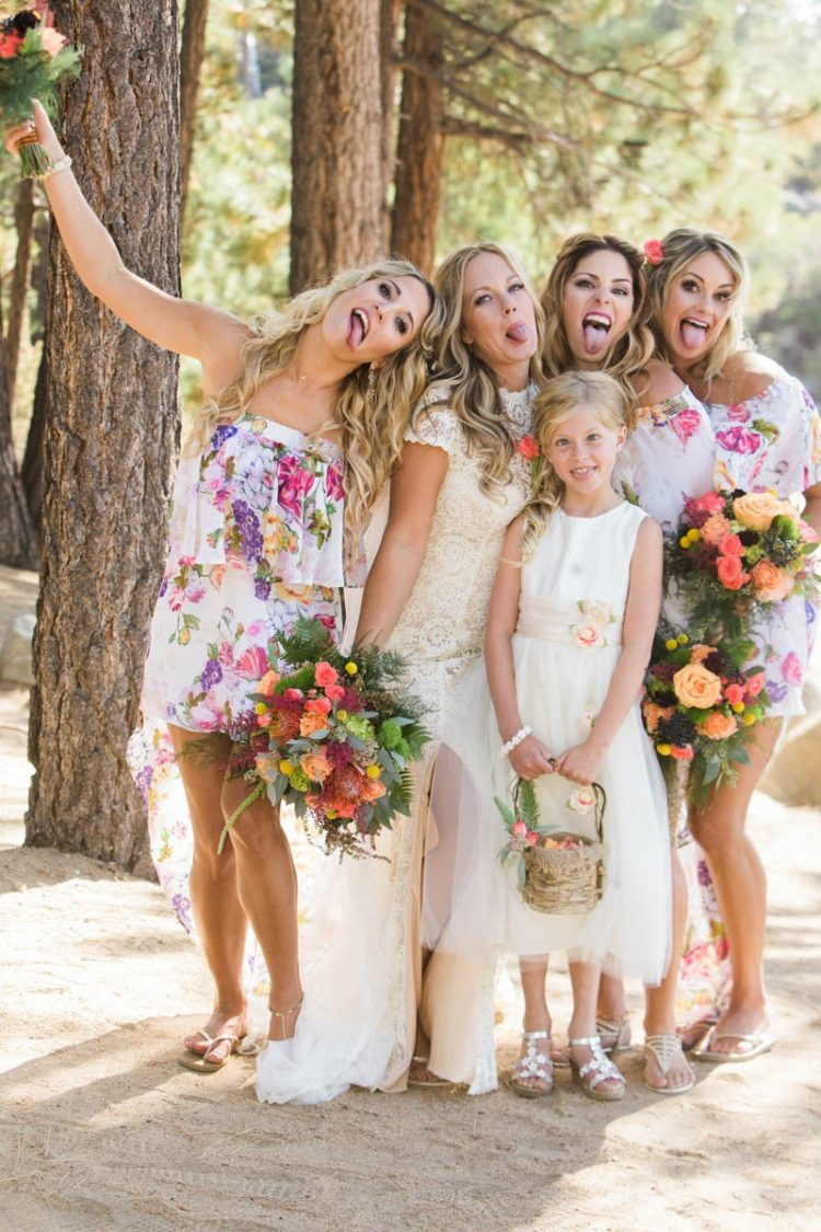 Fun Lake Tahoe Wedding With All The Colors