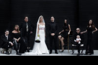 01 This wedding was modern Gothic-inspired, very personalized and intimate