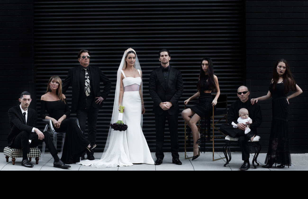This wedding was modern Gothic inspired, very personalized and intimate