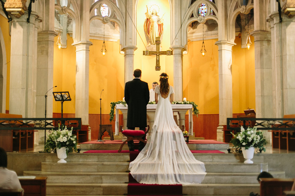 The ceremony took place at a church in Barcelona