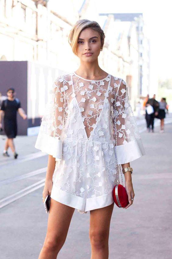 White Wedding Shower Dress 94 Popular white botanical lace romper