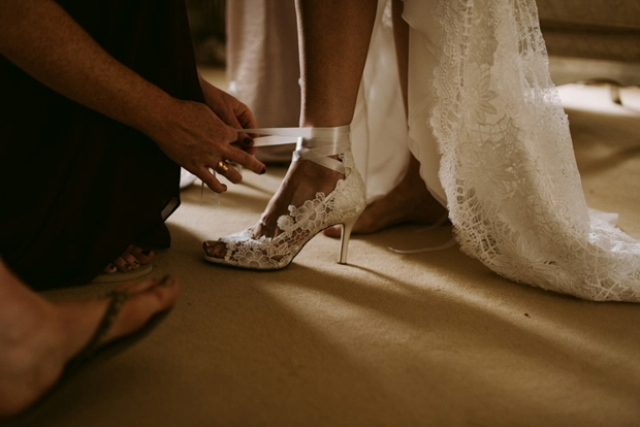 I love her lace strap heels, such elegance and cuteness