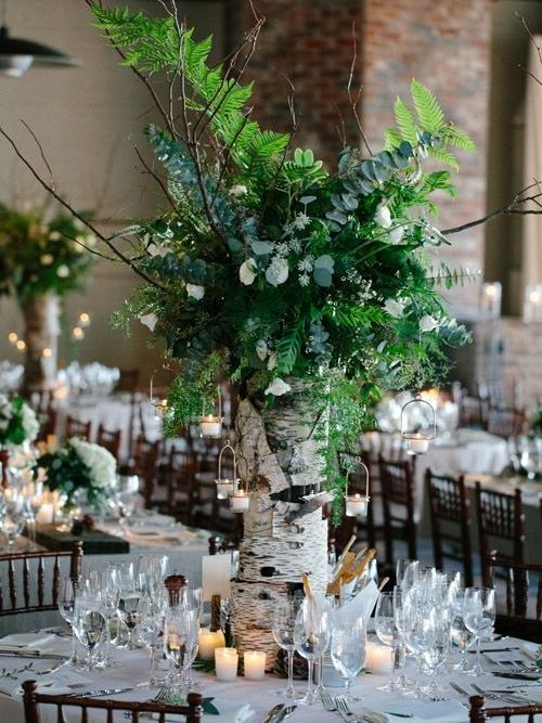 30 Sweet Birch Decor Ideas For Rustic Weddings