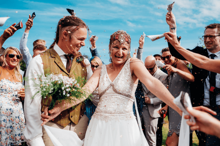 Her headpiece was boho and medieval at the same time, it made a bold statement