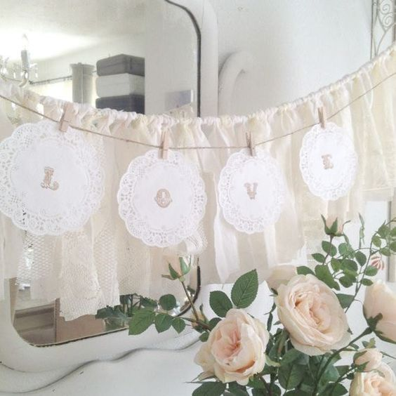 letter wedding decor