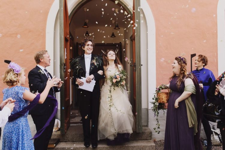 The wedding really felt magical, the couple and their friends were dressed in fairytale style