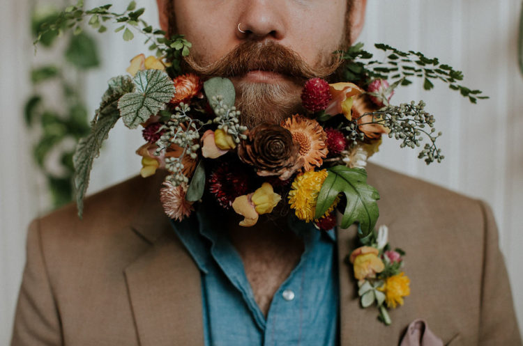 This beard is just amazing, with all the flowers and leaves