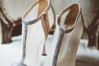 07 sheer booties with a sparkle