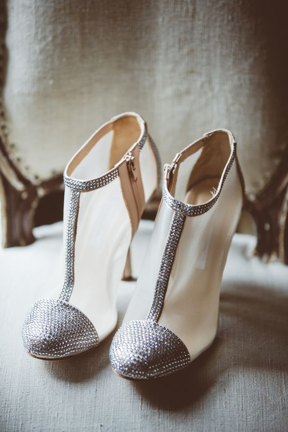 sheer booties with a sparkle