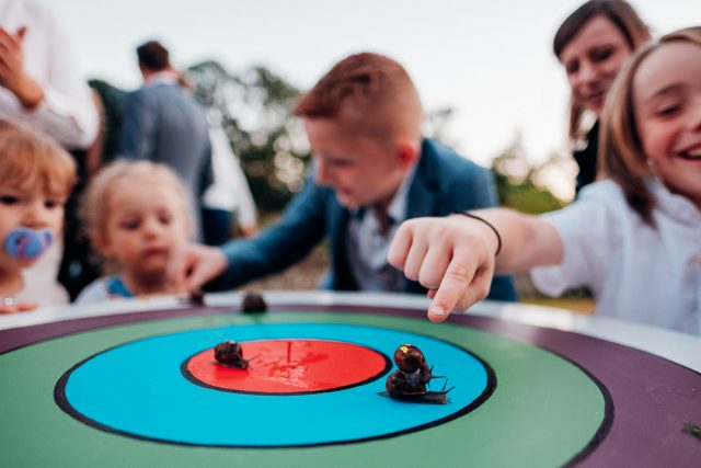 Snail racing is a fun idea, and the kids are welcome here
