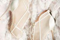 08 sheer ivory modern wedding booties
