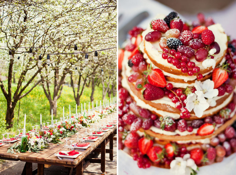 Look at this naked cake topped with fresh berries, isn't it amazing