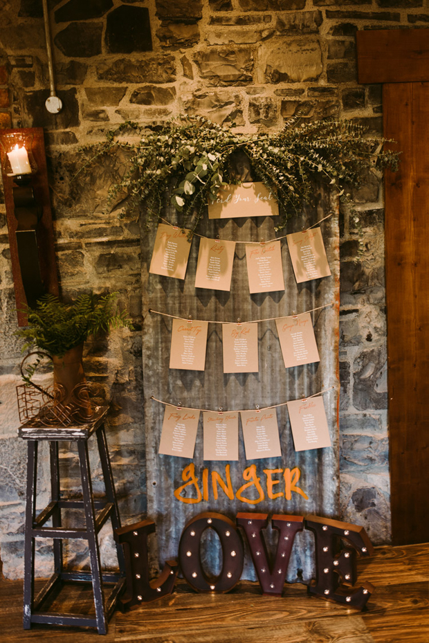 There was much vintage decor like these marquee letters, seating chart and stands