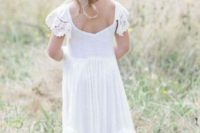 1901be4b3e68 Picture Of refined boho chic white maxi dress with ruffled criss ...