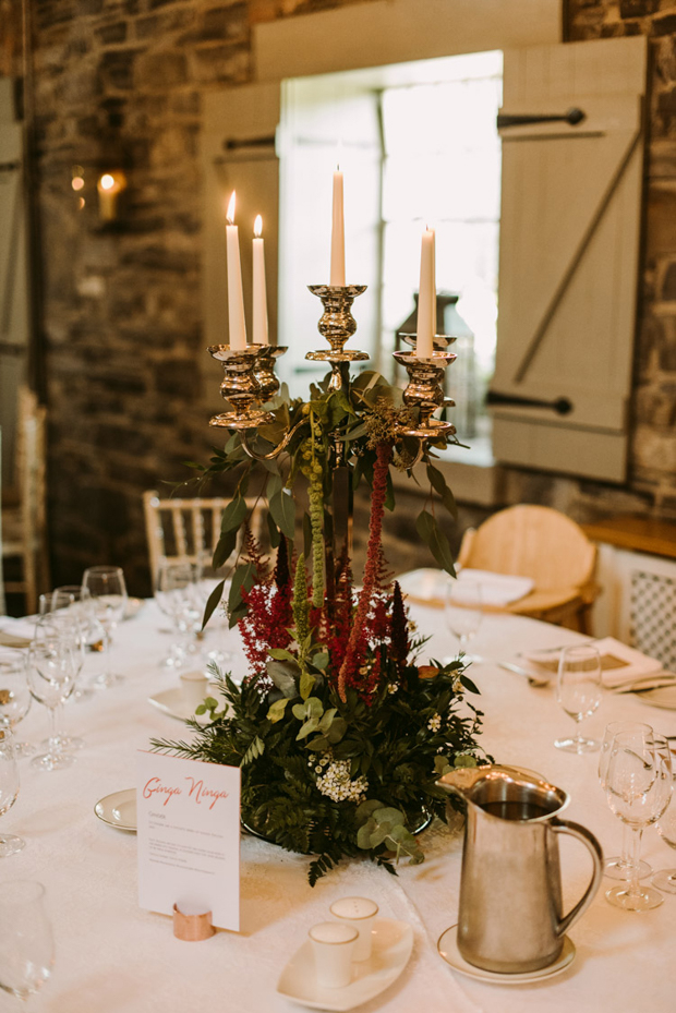 The tables were deocrated with elegance yetrather relaxed and cozy