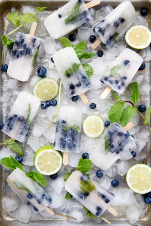 blueberry mojito popsicles refresh very well