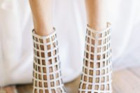 18 modern net-inspired booties with peep toes