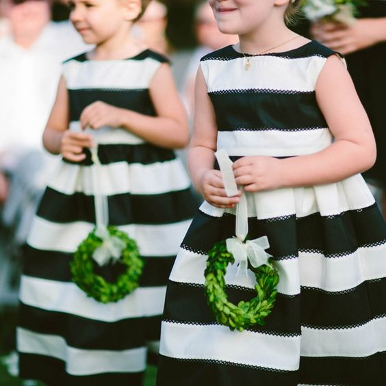 Picture Of Black And White Striped Dresses With No Sleeves