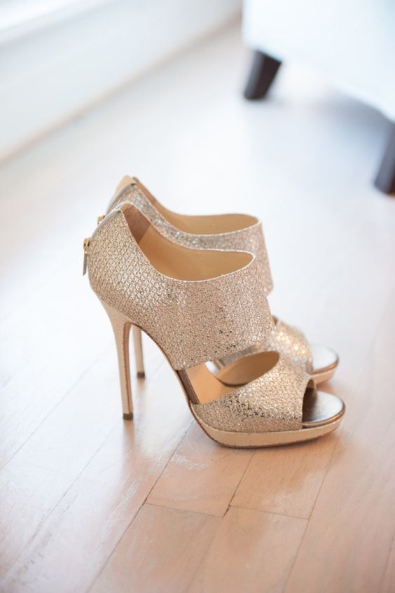 sparkling cutout booties with stiletto heels