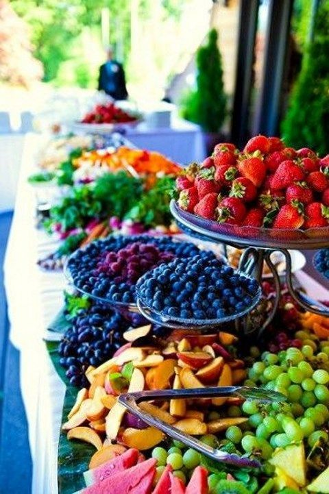 fresh berries and fruit station is perfect for any summer celebration