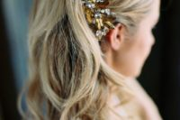 26 accessorize your waves with a sparkling rhinestone headpiece